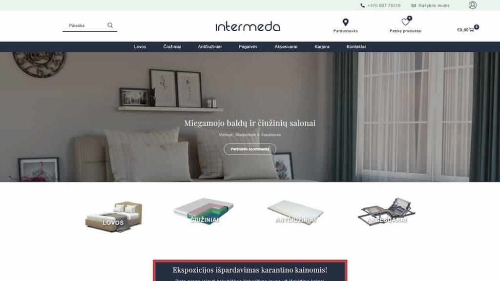 Intermeda lovos svetainė